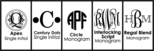 Font Choices for Monogrammed Wine Glasses